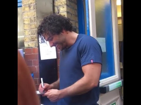 Aidan Turner at Noël Coward Theatre Stage Door