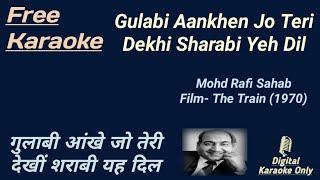 Gulabi Ankhen Jo Teri Dekhi   गुलाबी आंखे जो तेरी देखी   Karaoke [HD] Karaoke With Lyrics Scrolling