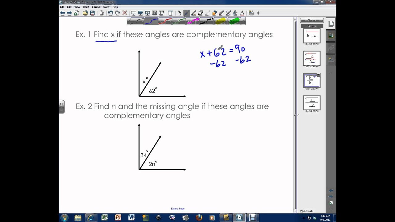 worksheet Complementary Angle complementary angles and supplementary angles