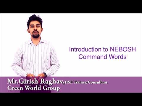 Command Words for NEBOSH Exam - Action Verbs