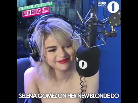 Selena Gomez On Her New Blonde Hair | The Radio 1 Breakfast Show with Nick Grimshaw