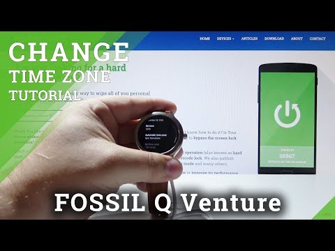 How to Open Time Settings in FOSSIL Q Venture - Set Up Date