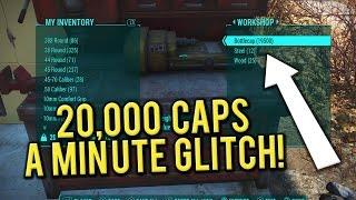 Fallout 4 - Best Caps Glitch AFTER 1.5 (20K A MINUTE!)