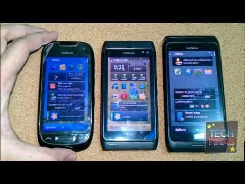 Nokia N8 vs. Nokia E7 vs. Nokia C7 : Case, Ports, Buttons, Form Factor