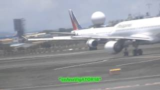Philippine Airlines A320,A330 & SkyJet BAe146 landing @ rwy 24 RPLL/MNL