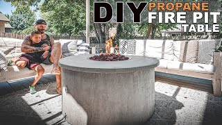 DIY Patio Gas Fire Pit Table