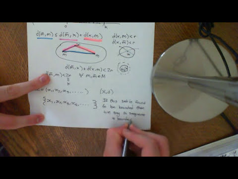 Bounded Sets and Bounded Sequences