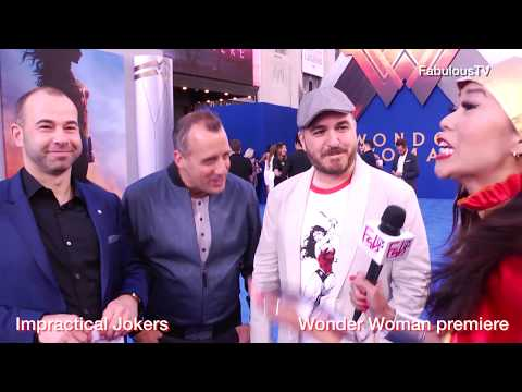 Impractical Jokers at the premiere of 'WONDER WOMAN' on FabulousTV