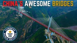 China's World Record Breaking Bridges 中国最壮观的桥梁 添加了中文字幕