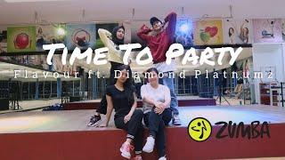 Flavour - Time to Party (Feat. Diamond Platnumz) | ZUMBA | FITNESS | At Global Sport Balikpapan
