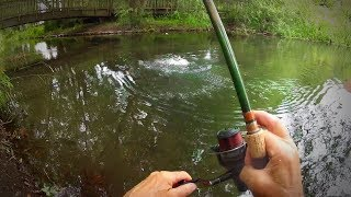 Man Fishing Alone on a River using Traditional Float Fishing Methods