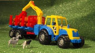 Мультик про  животных с фермы которые помогли сломанному трактору.