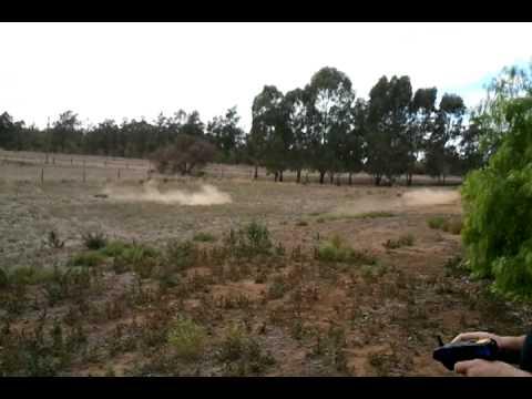 1/5 HSP MONSTER TRUCK vs 1/5 HSP BAJA BUGGY DRAG RACE