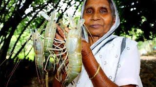 Big Size RIVER PRAWN VAPA Recipe in Boil Rice | Traditional Golda Chingri Recipe