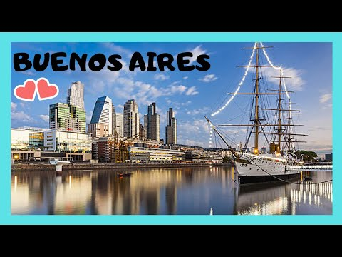 BUENOS AIRES: The pretty PORT and WATERFRONT of PUERTO MADERO (ARGENTINA)