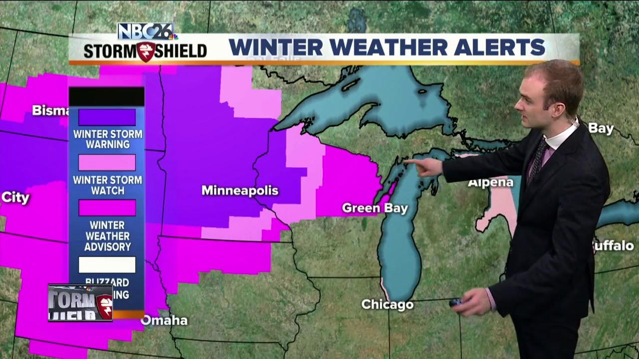 Gino Recchia NBC26 Storm Shield Weather Forecast