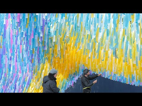 Art Installation Created For Anniversary Of Fall Of Berlin Wall