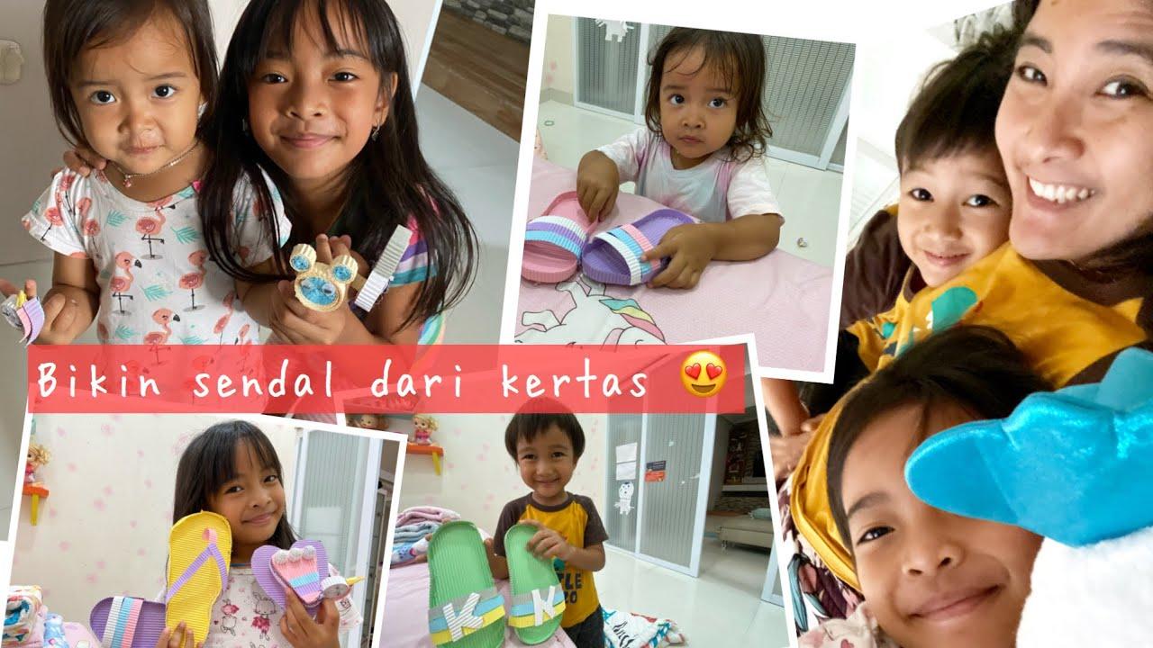 Bikin Sendal dan Boneka Jari dari Kertas Kokoru | Anak Mandiri Anak Kreatif Anak Indonesia
