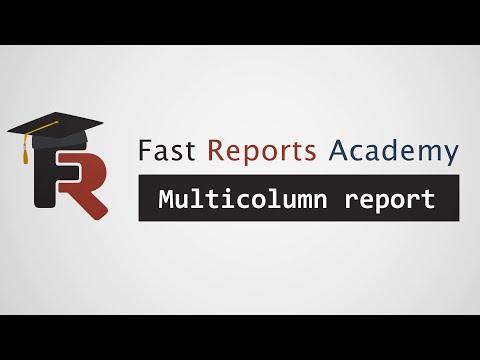 FastReport .NET Demo: Multicolumn Report