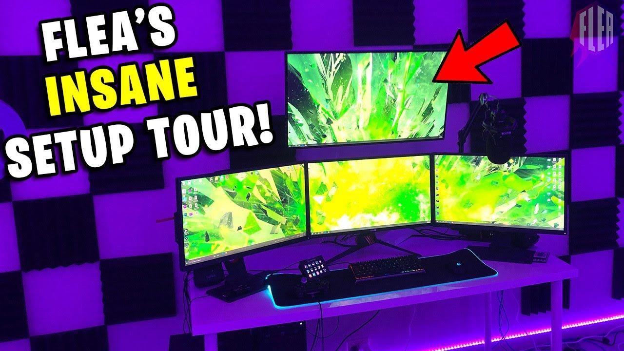 How I Made The World's Best Gaming Setup! / Flea's Setup Tour 2020