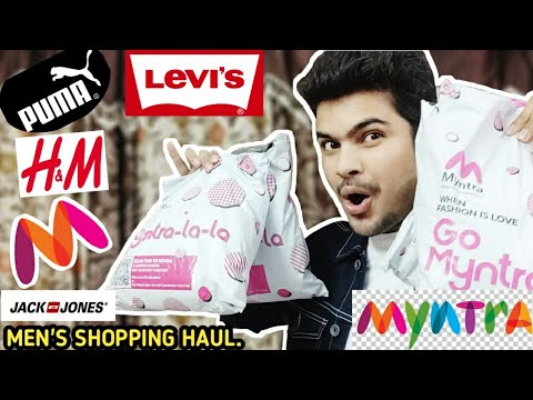 MEN'S Winters Shopping HAUL | LEVIS | JACK & JONES | PUMA | H&M | End Of Reason Sale.