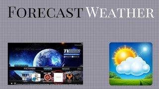 How to set up the forecast weather on kodi 2017#