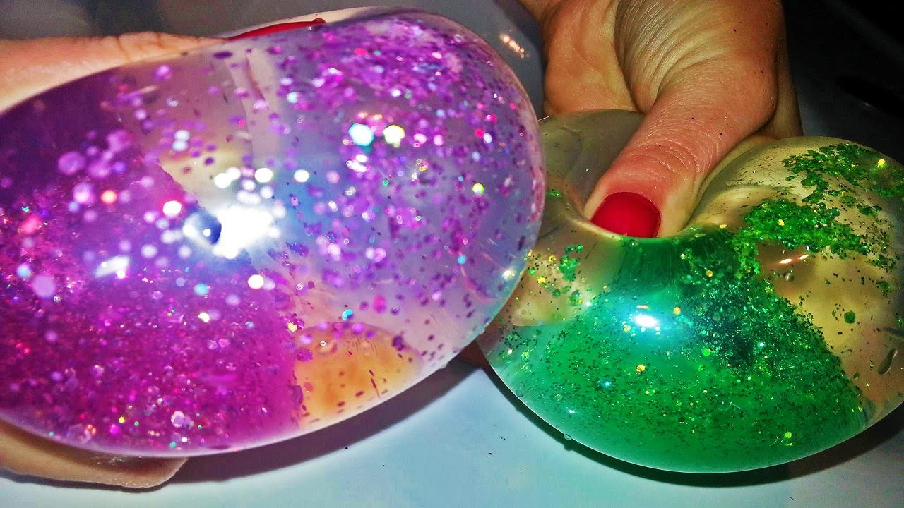 glitter slime balloons how to make glitter squishy ball