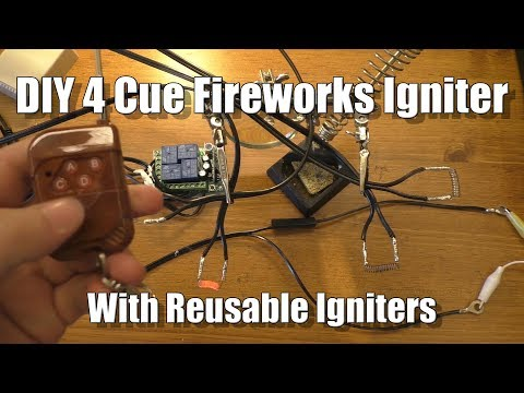 DIY 4 Cue Fireworks Igniter with Reusable Igniters