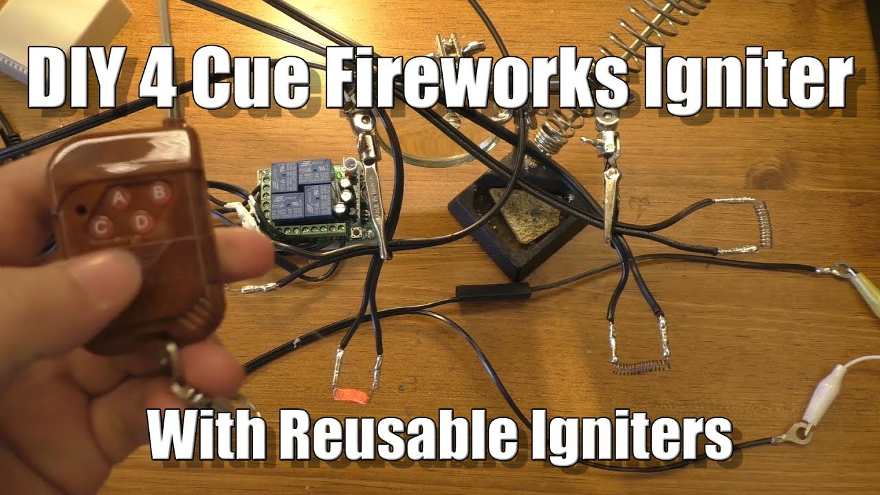 diy 4 cue fireworks igniter with reusable igniters youtube. Black Bedroom Furniture Sets. Home Design Ideas