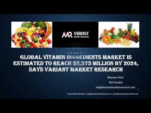 Vitamin Ingredients Market Global Scenario, Market Size, Outlook, Trend and Forecast, 2015-2024-VMR