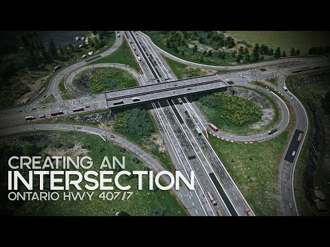 Cities: Skylines   Creating an Intersection Ontario Hwy 407/7