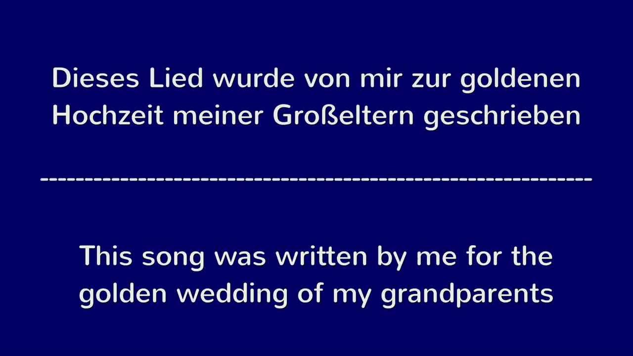 Lied Zur Goldenen Hochzeit Song For Golden Wedding Fluss Ins Goldene Meer