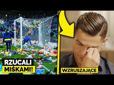 Kibice OBRZUCALI SIĘ PLUSZAKAMI na meczu! Ronaldo popłakał się, gdy zobaczył film od OJCA...