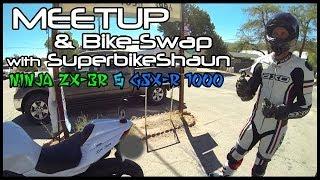 superbikeshaun meetup ninja 300 and gsx r 1000 review