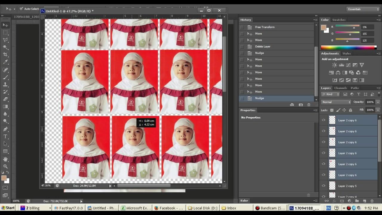 Cara Membuat Ukuran Foto 3x4 Di Photoshop Cara Cepat Membuat Ukuran Foto 3x4 Di Photoshop Youtube