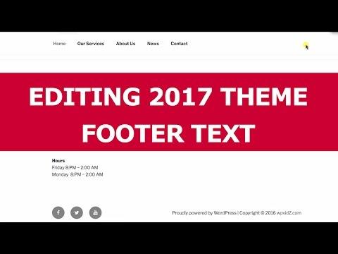 Twenty Seventeen Theme Editing Proudly Powered By WordPress Text