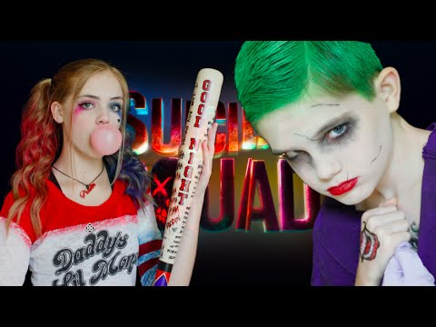 HARLEY QUINN & THE JOKER SUICIDE SQUAD MAKEUP TUTORIAL