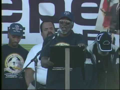 Million Workers March Rally Lincoln Memorial Oct. 17,2004 Johnnie Stevens Friendly part one youtube