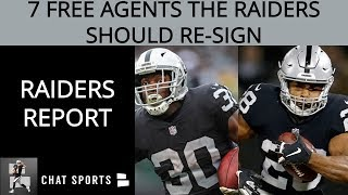 Oakland Raiders' Top 7 Free Agents They Need To Re-sign In 2019