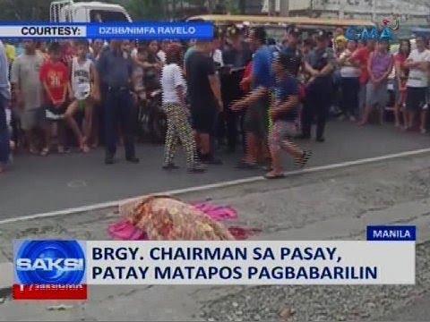 Brgy. chairman sa Pasay, patay matapos pagbabarilin