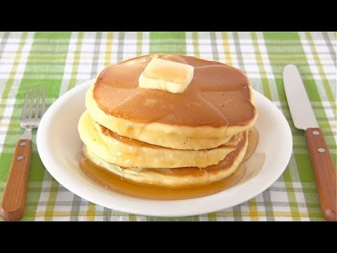 Hot Cake (Japanese Pancakes) ホットケーキの作り方 (パンケーキ レシピ) - OCHIKERON - CREATE EAT HAPPY