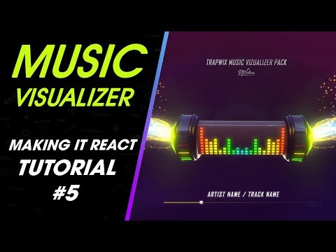 TrapWix Music Visualizer Tutorial 5 Making it React | After Effect Template thumbnail