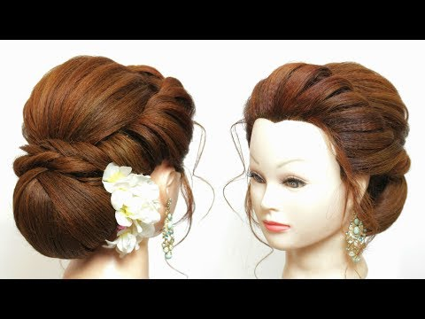 Low Bun Hairstyle Tutorial. New Easy Party Hair Ideas.