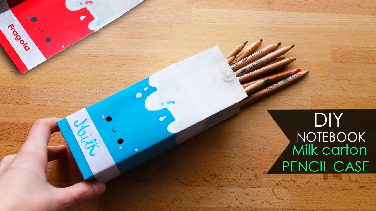 diy notebook �� astuccio cartone di latte milk carton