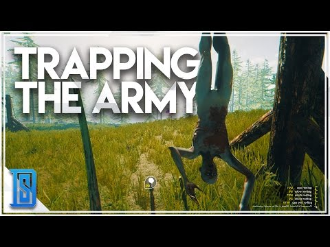 The Forest Multiplayer Pt.10 - HUGE CANNIBAL BATTLE/TRAPPING AN ARMY!
