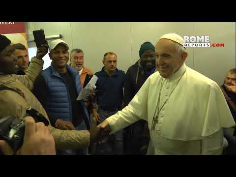 Pope makes surprise visit to hospital for homeless near the Vatican