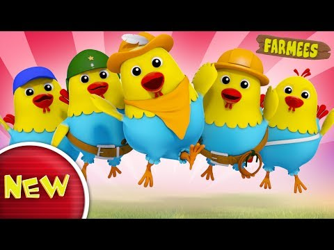 Five Naughty Fat Hens Jumping On The Bed | Rhyme | Nursery Rhymes | Baby Songs by Farmees