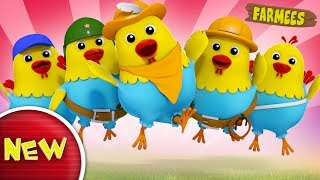 Five Naughty Fat Hens Jumping On The Bed   Original Rhyme With Farmees   Nursery Rhymes   Baby Songs thumbnail