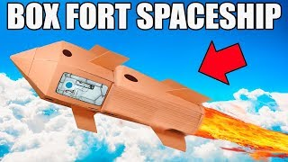BOX FORT SPACESHIP!! 📦🚀 ROCKET LAUNCH, ASTRONAUT FOOD, SPACE & MORE!