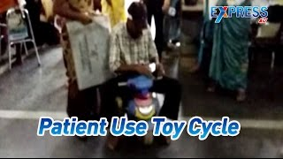 KTR Respond on Patient Denied Wheelchair In Gandhi Hospital | Patient Use Toy Cycle-Express TV